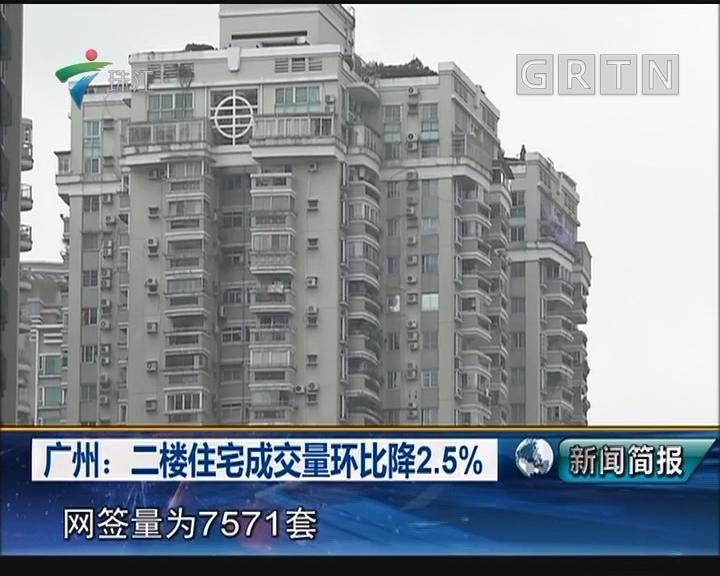 广州:二楼住宅成交量环比降2.5%