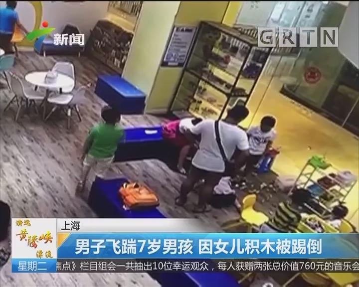 上海:男子飞踹7岁男孩 因女儿积木被踢倒
