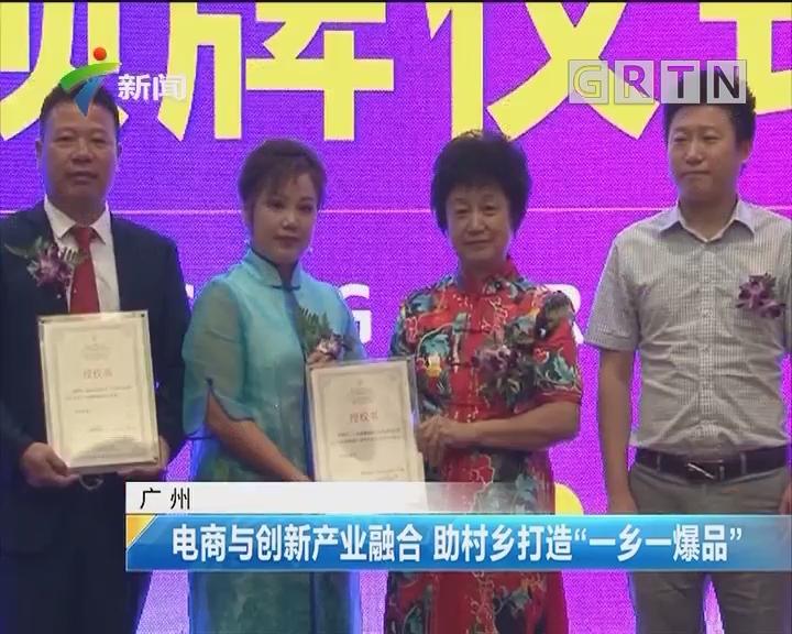 """广州:电商与创新产业融合 助村乡打造""""一乡一爆品"""""""