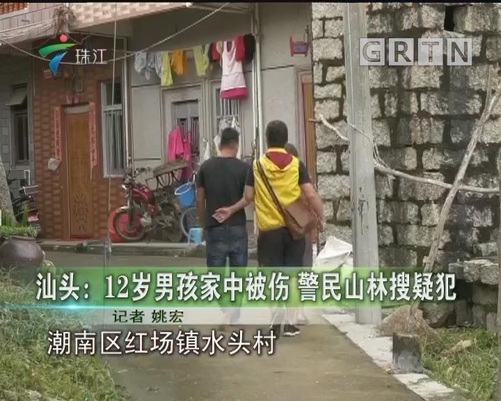 汕头:12岁男孩家中被伤 警民山林搜疑犯