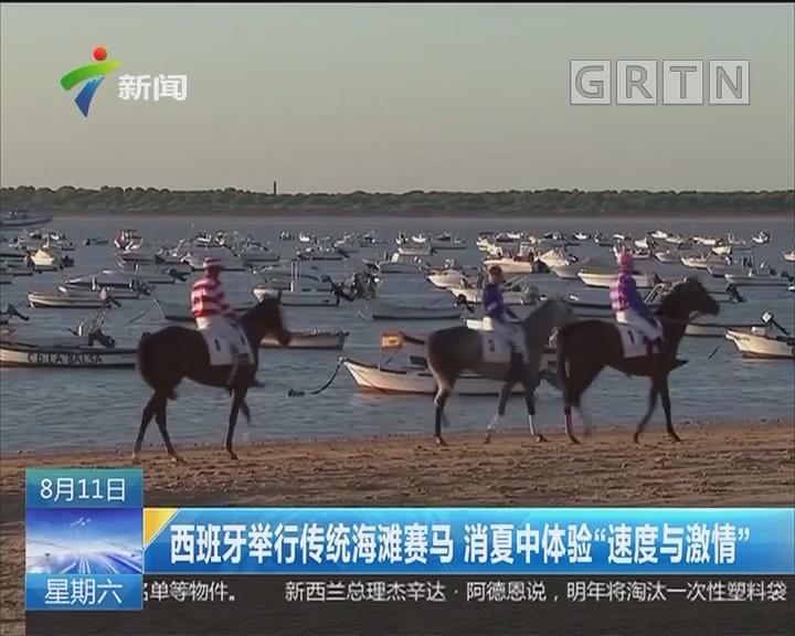 """西班牙举行传统海滩赛马 消夏中体验""""速度与激情"""""""