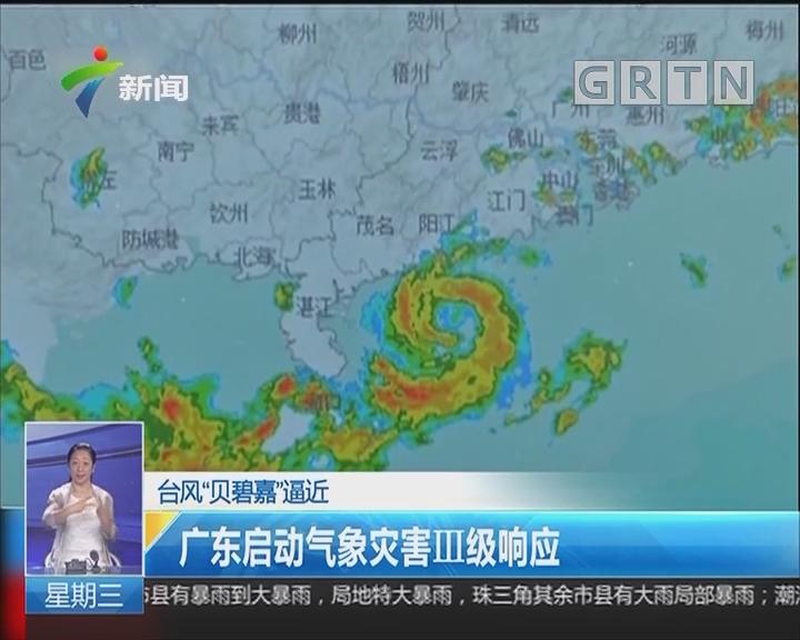 """台风""""贝碧嘉""""逼近:广东启动气象灾害III级响应"""