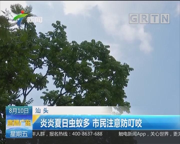 汕头:炎炎夏日虫蚁多 市民注意防叮咬