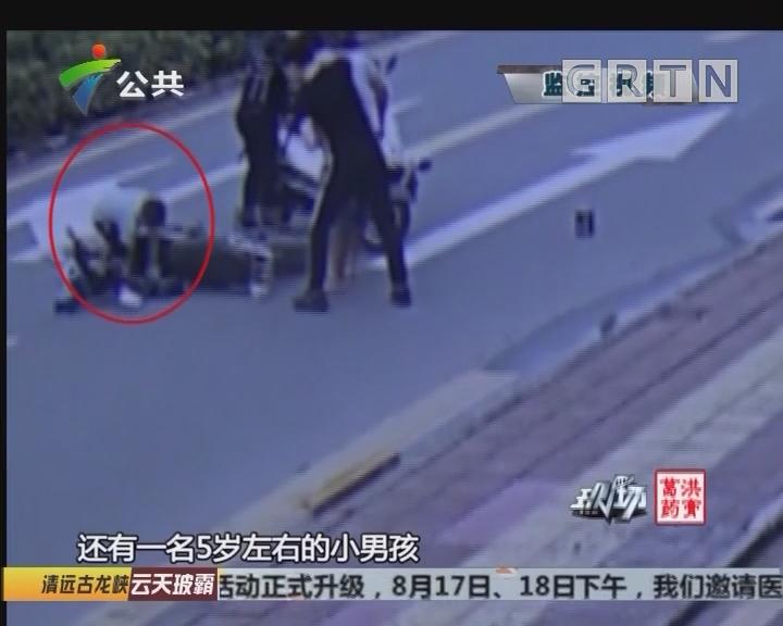 深圳:男子携幼儿偷电瓶 铁骑便衣合力抓捕