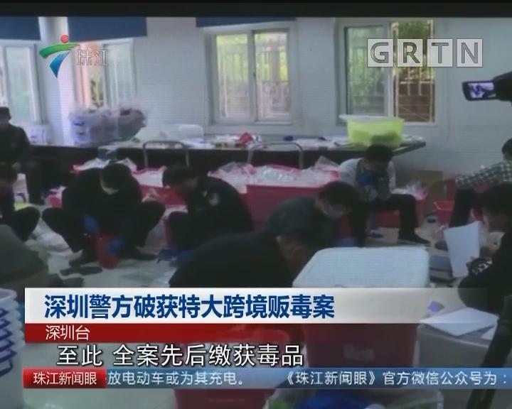 深圳警方破获特大跨境贩毒案