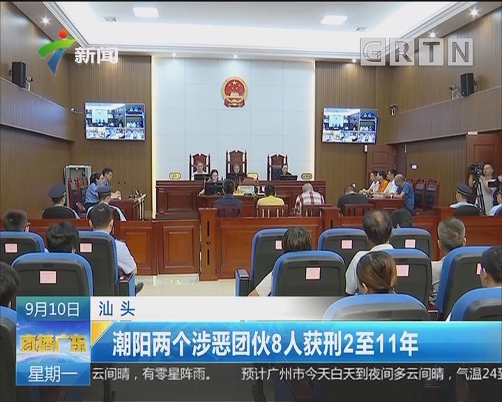 汕头:潮阳两个涉恶团伙8人获刑2至11年