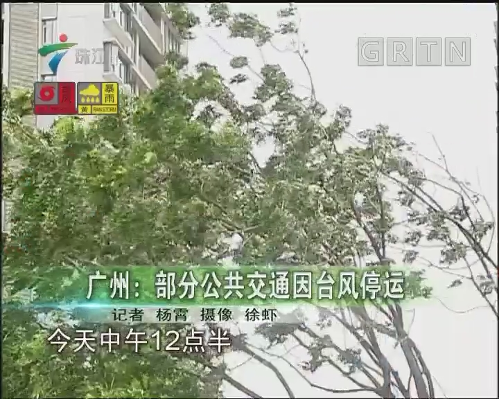 广州:部分公共交通因台风停运