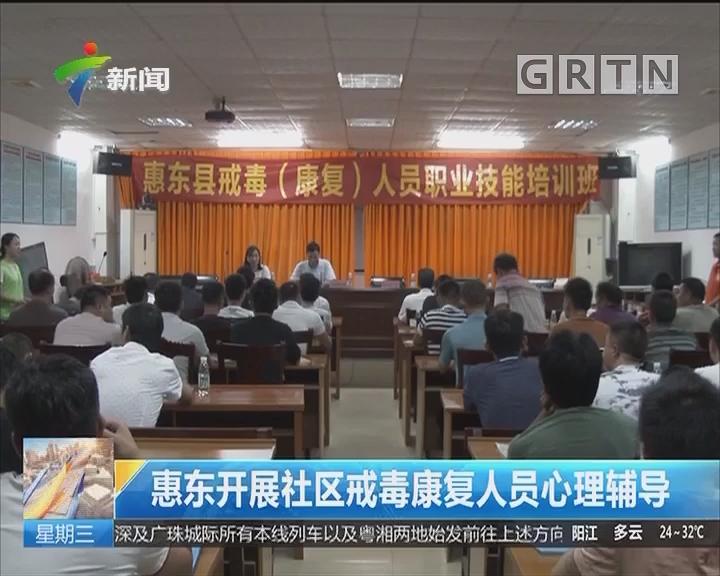 惠东开展社区戒毒康复人员心理辅导