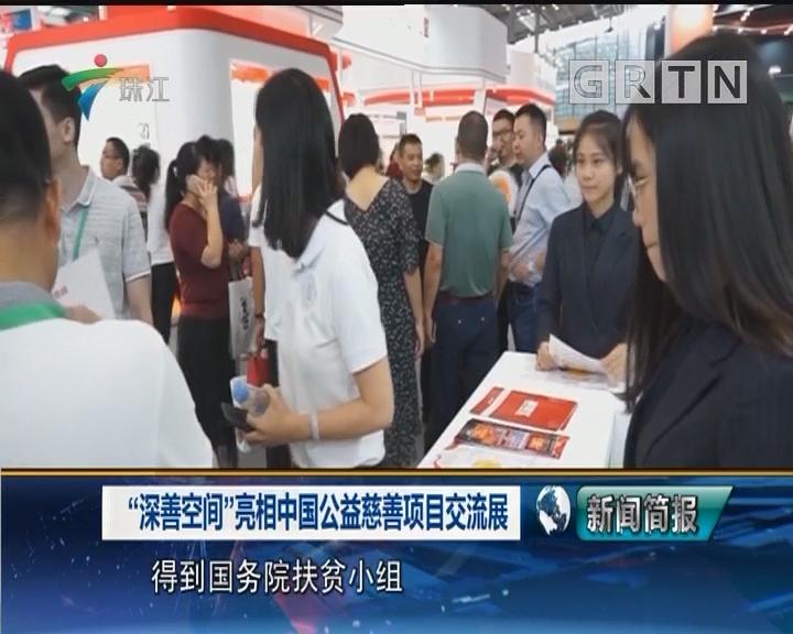 """""""深善空间""""亮相中国公益慈善项目交流展"""