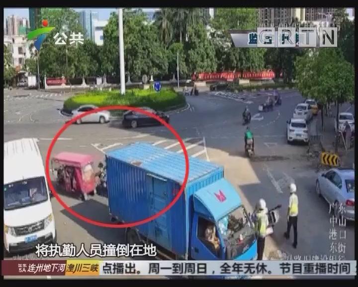 中山:男子非法营运 遇查想逃跑