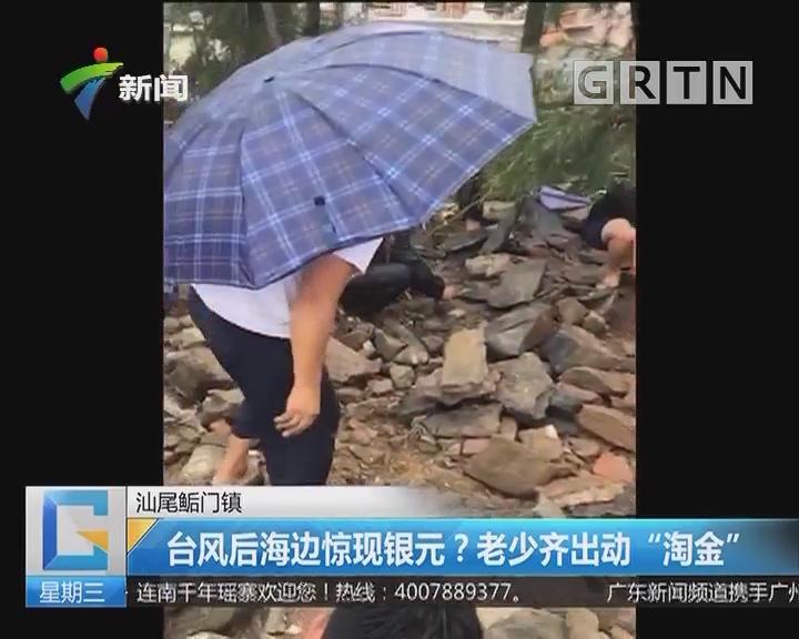 """汕尾鲘门镇:台风后海边惊现银元?老少齐出动""""淘金"""""""