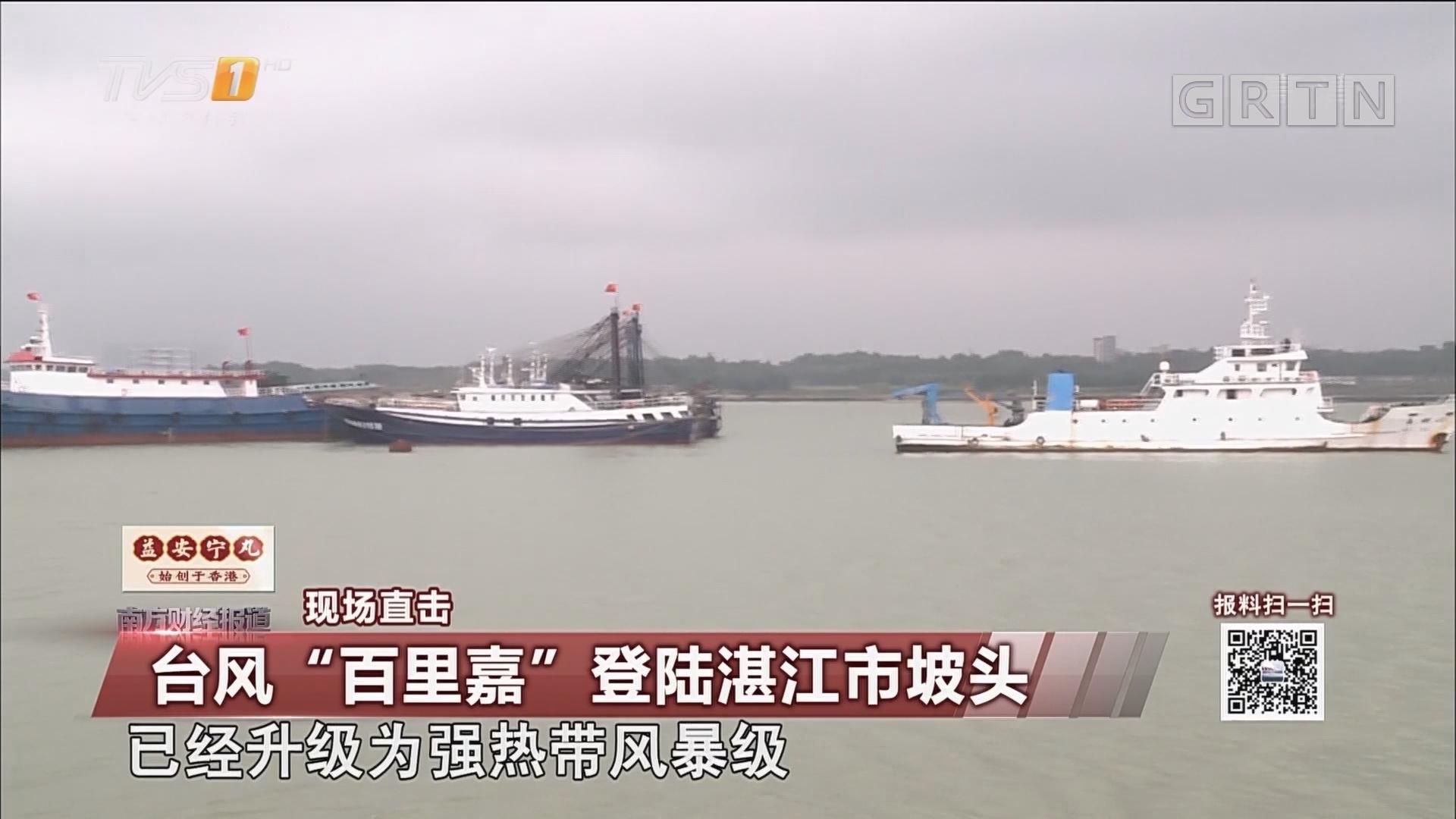 """台风""""百里嘉"""" 登陆湛江市坡头"""