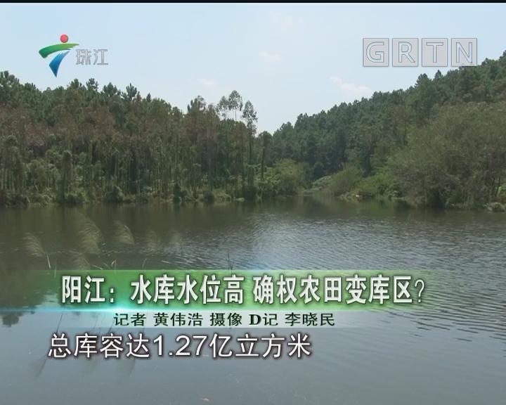 阳江:水库水位高 确权农田变库区?