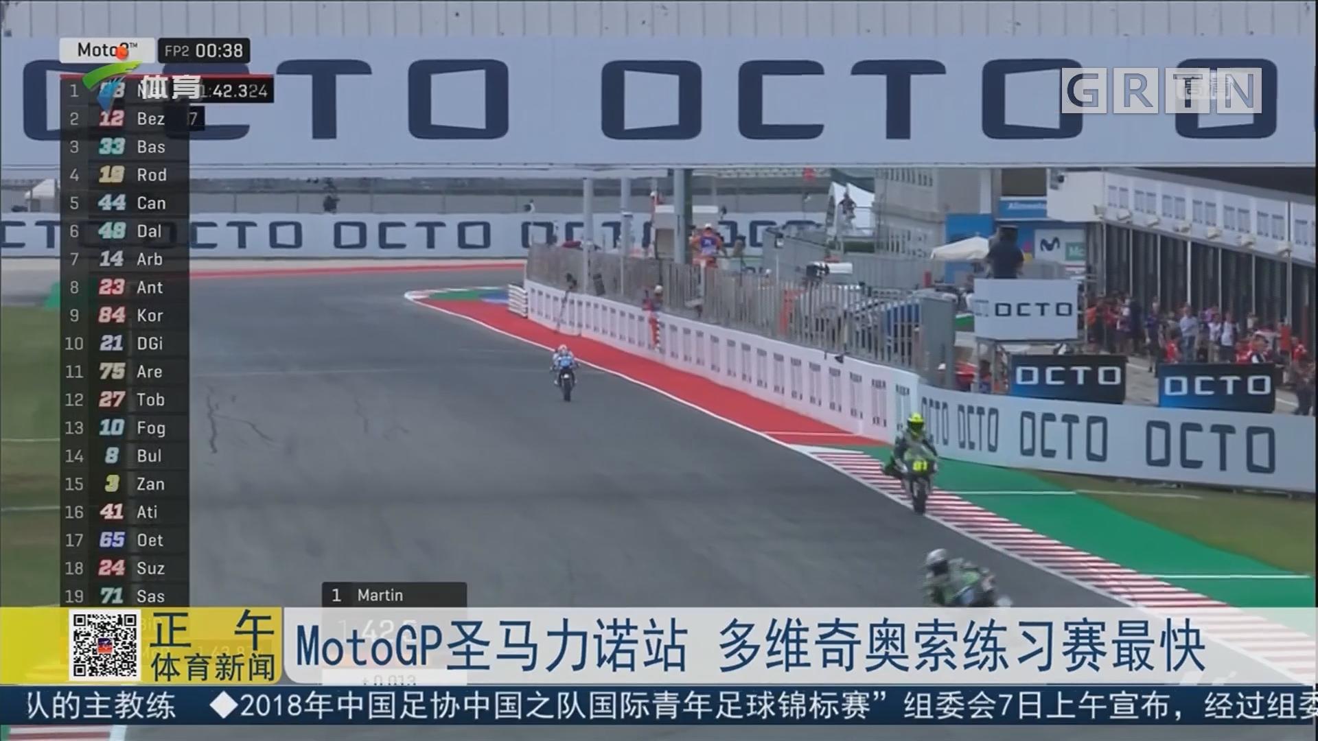 MotoGP圣马力诺站 多维奇奥索练习赛最快