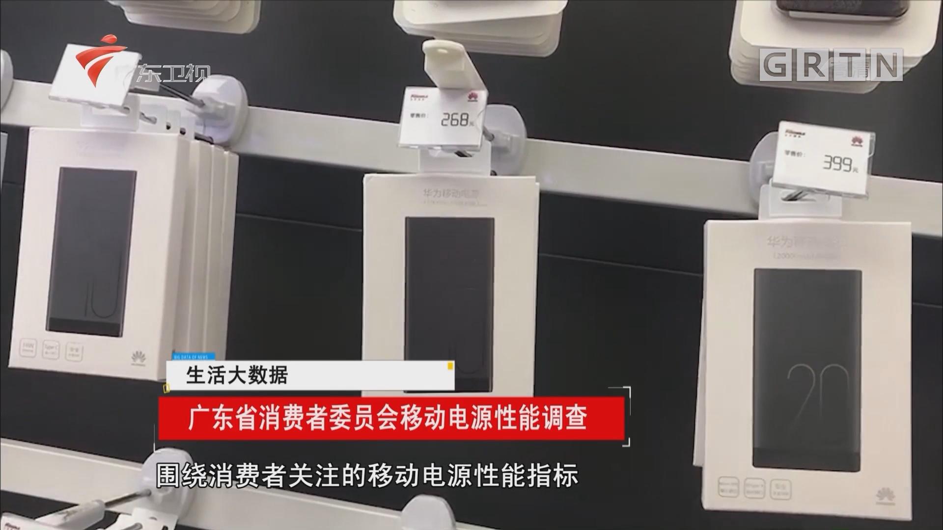 广东省消费者委员会移动电源性能调查