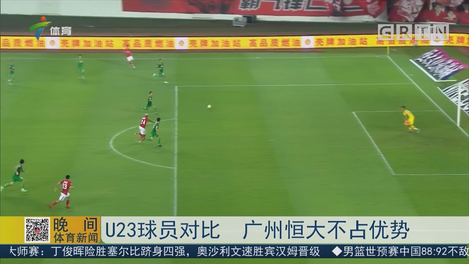 U23球员对比 广州恒大不占优势