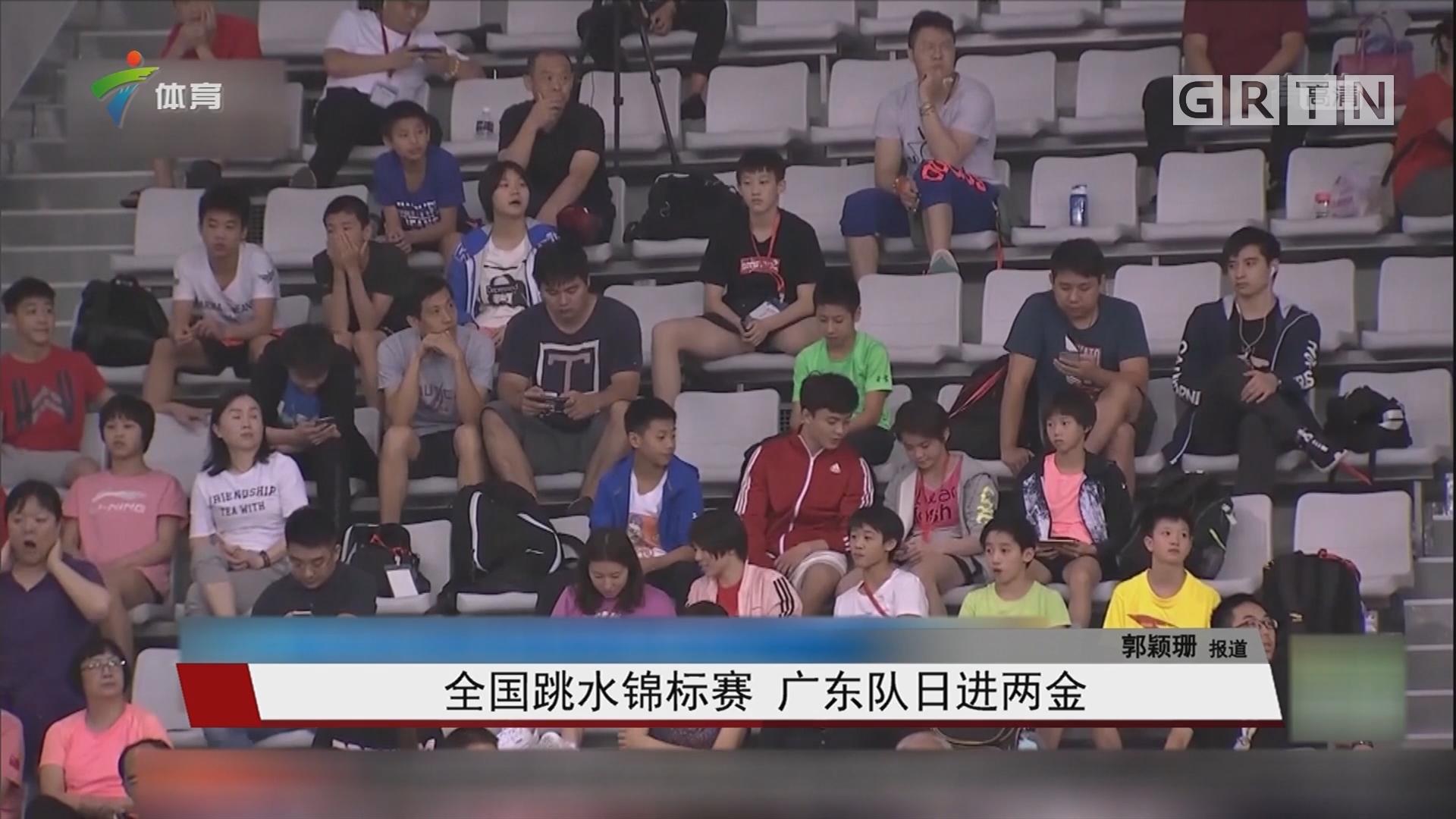 全國跳水錦標賽 廣東隊日進兩金