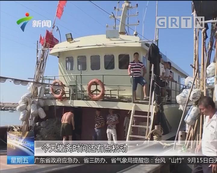 """防御强台风""""山竹"""" 阳江:东平渔港渔船全部转港避风"""
