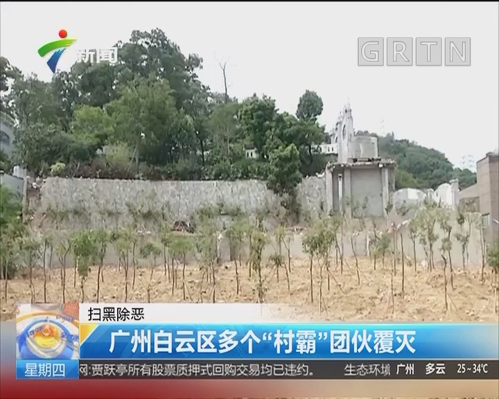 """掃黑除惡:廣州白云區多個""""村霸""""團伙覆滅"""