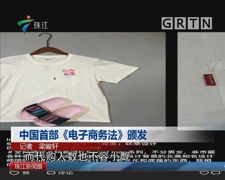 中国首部《电子商务法》颁发