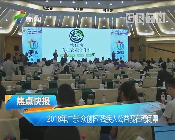 """2018年广东""""众创杯""""残疾人公益赛在穗闭幕"""