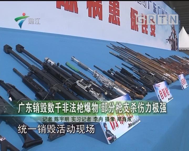 广东销毁数千非法枪爆物 部分枪支杀伤力极强