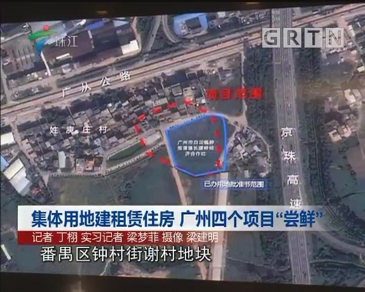 """集体用地建租赁住房 广州四个项目""""尝鲜"""""""