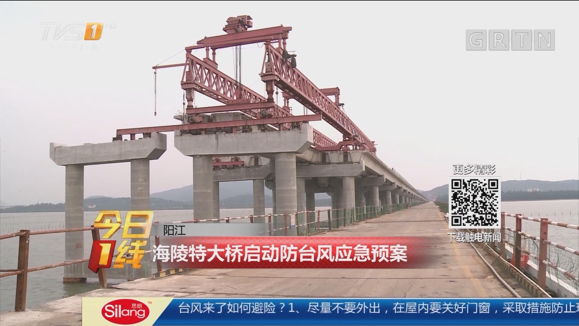 阳江:海陵特大桥启动防台风应急预案