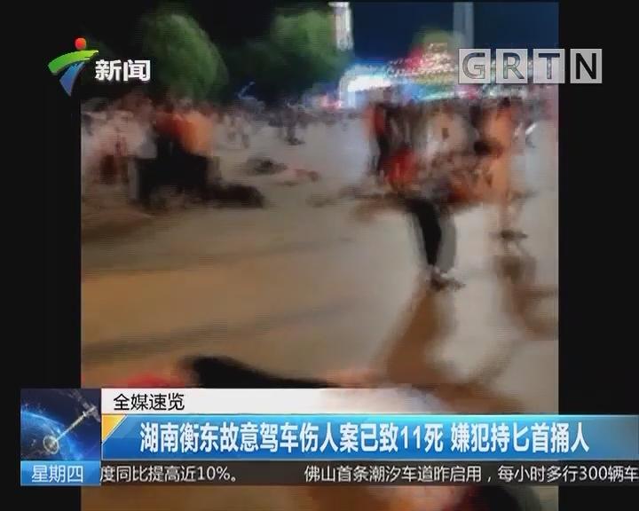 湖南衡东故意驾车伤人案已致11死 嫌犯持匕首捅人