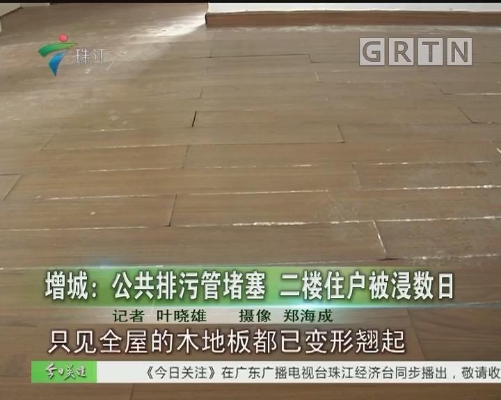 增城:公共排污管堵塞 二楼住户被浸数日