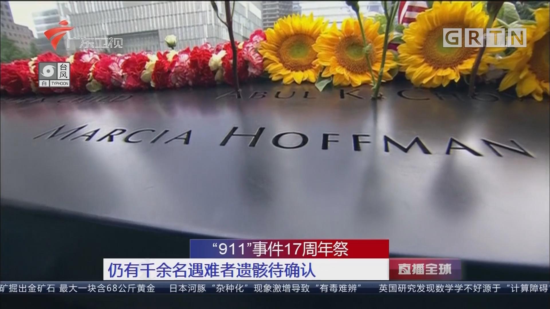 """""""911""""事件17周年祭:逝者将激励美国人继续生活"""