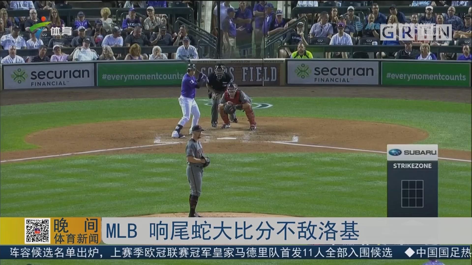 MLB 响尾蛇大比分不敌洛基