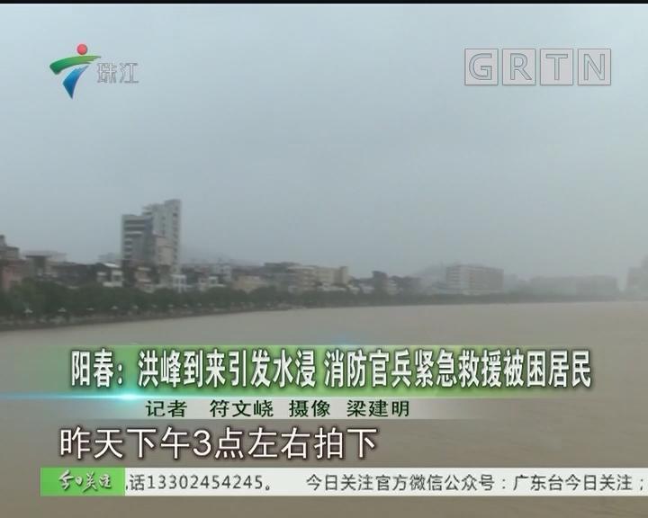 阳春:洪峰到来引发水浸 消防官兵紧急救援被困居民