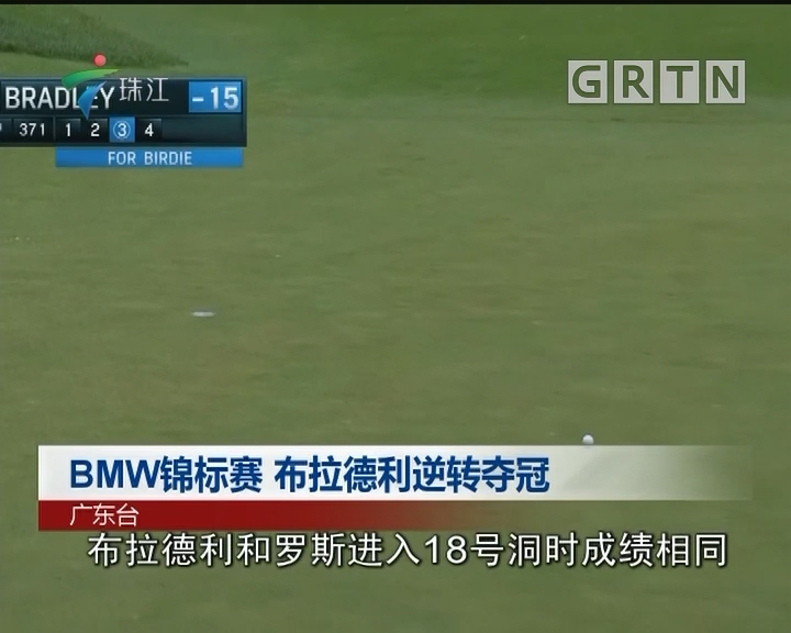 BMW锦标赛 布拉德利逆转夺冠