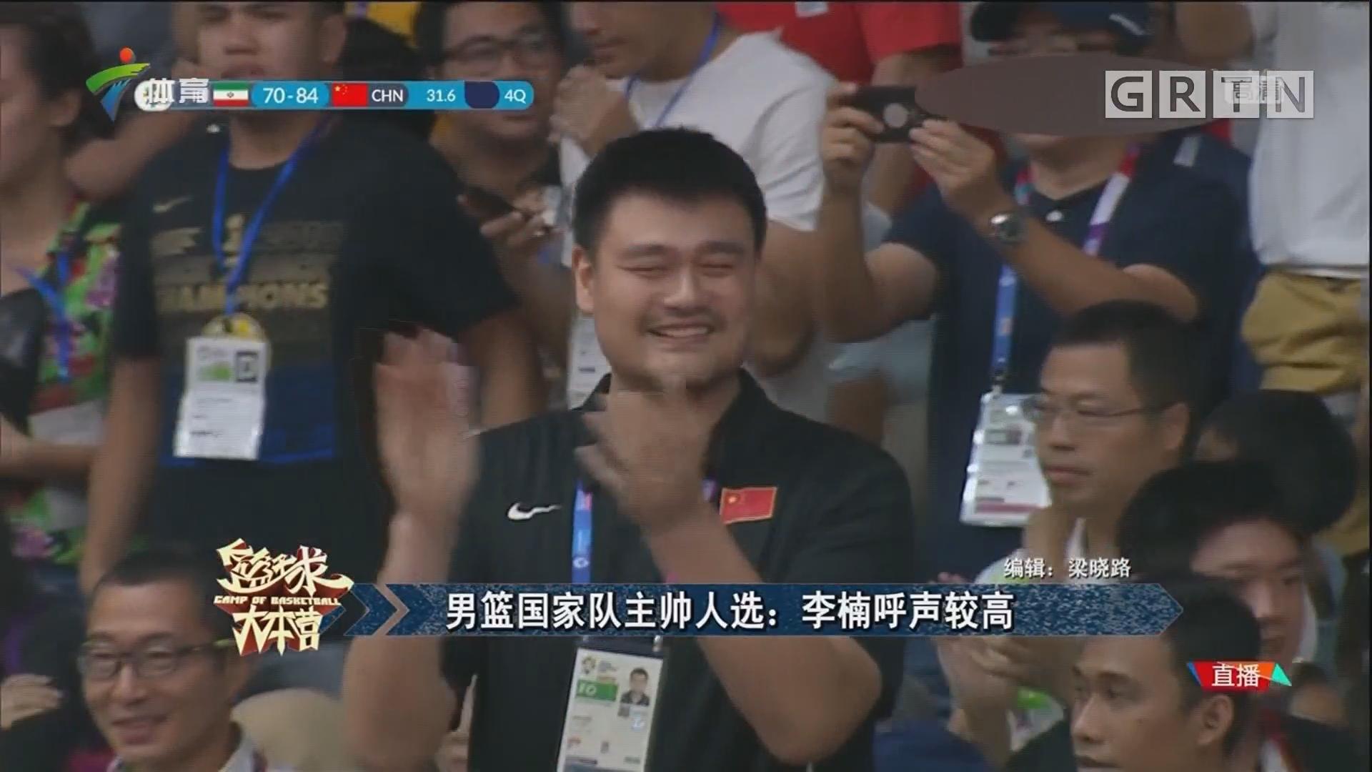 男篮国家队主帅人选:李楠呼声较高