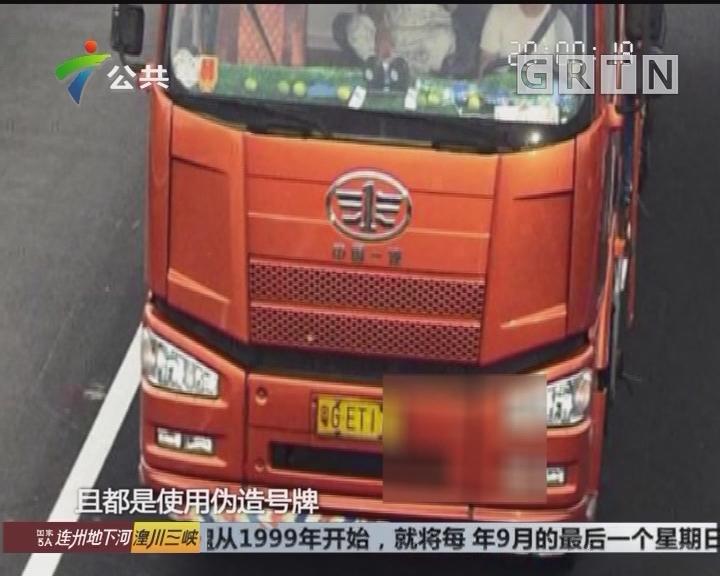 阳江:交警查获伪造假牌大货车 一年内41次超载