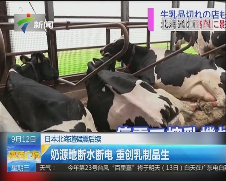 日本北海道强震后续:奶源地断水断电 重创乳制品生