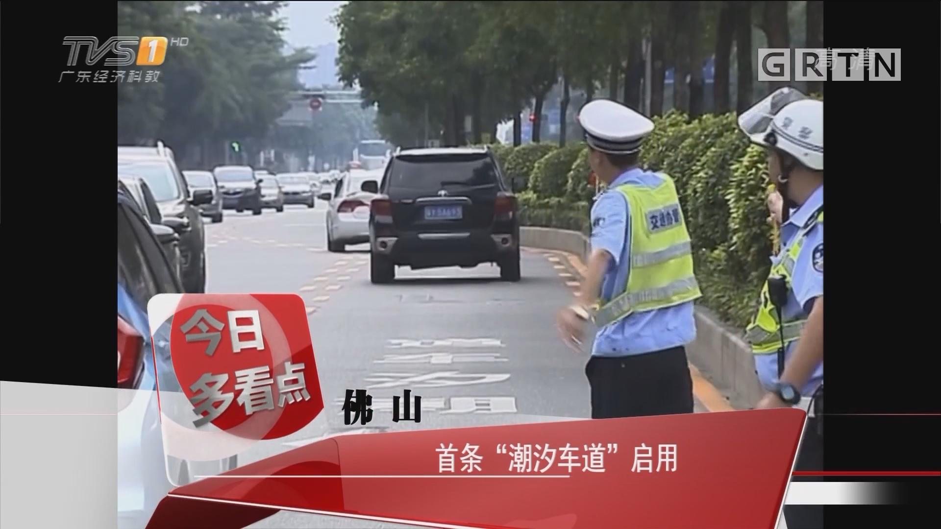 """佛山:首条""""潮汐车道""""启动"""