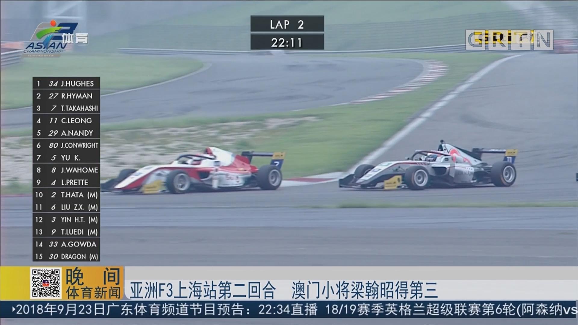 亚洲F3上海站第二回合 澳门小将梁翰昭得第三