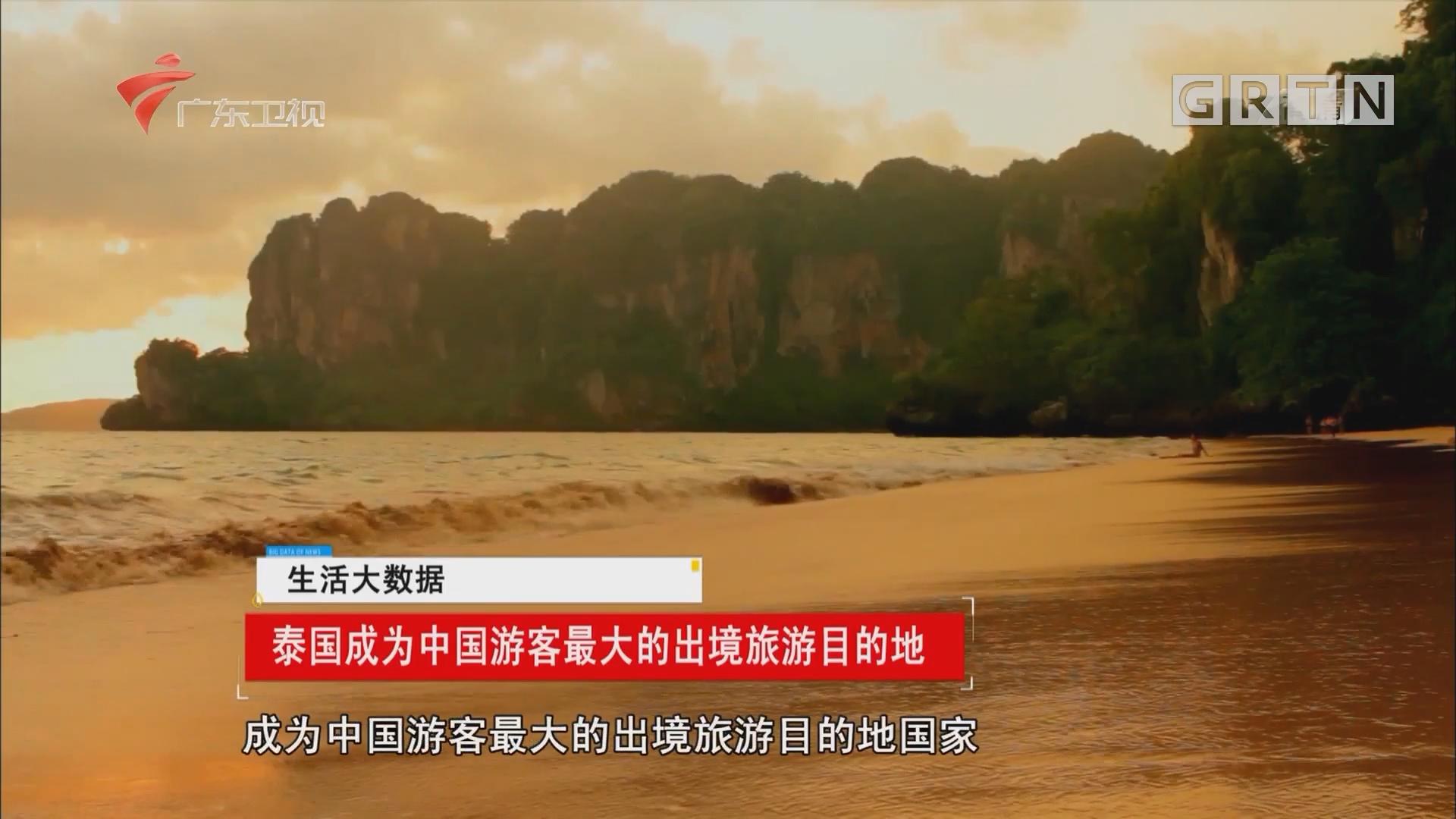 泰国成为中国游客最大的出境旅游目的地