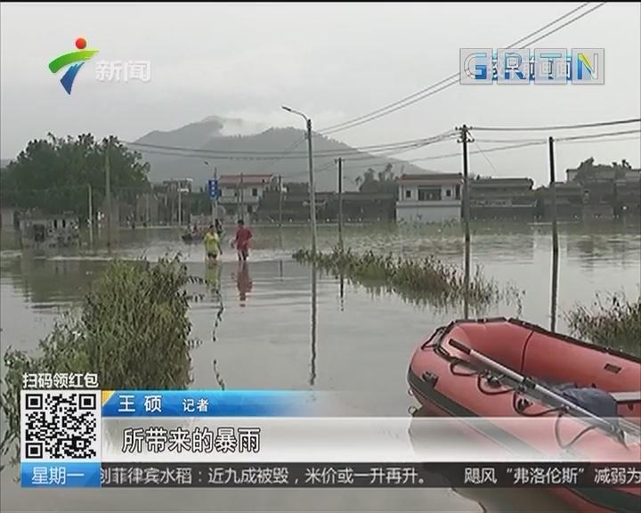 江门开平:城区多处水浸严重