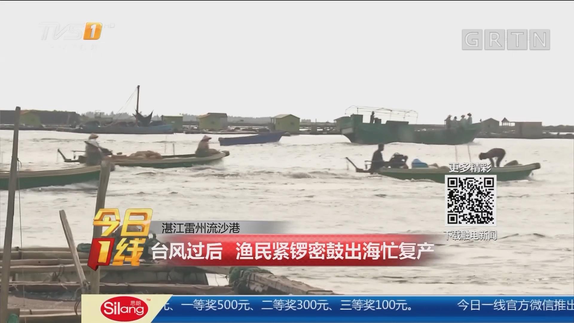 湛江雷州流沙港:台风过后 渔民紧锣密鼓出海忙复产