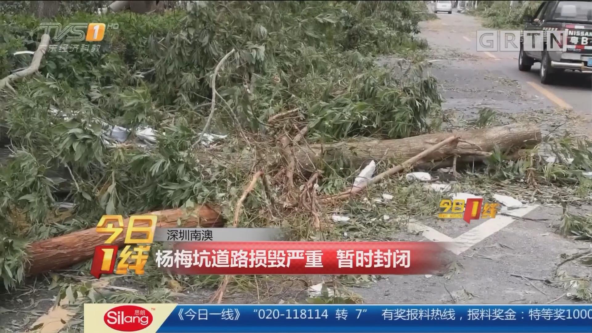 深圳南澳:杨梅坑道路损毁严重 暂时封闭