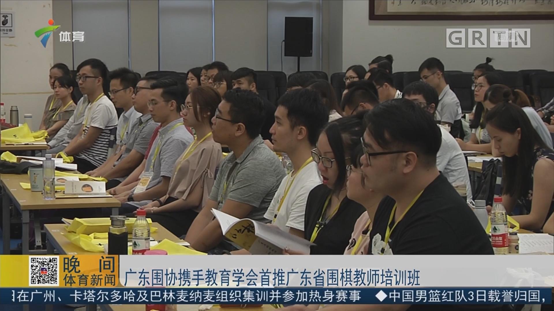 广东围协携手教育学会首推广东省围棋教师培训班
