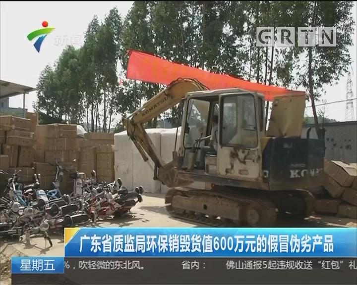 广东省质监局环保销毁货值600万元的假冒伪劣产品