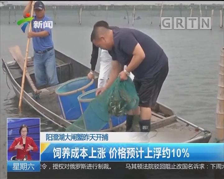 阳澄湖大闸蟹昨天开捕:饲养成本上涨 价格预计上浮约10%