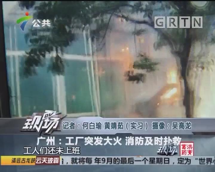 广州:工厂突发大火 消防及时扑救