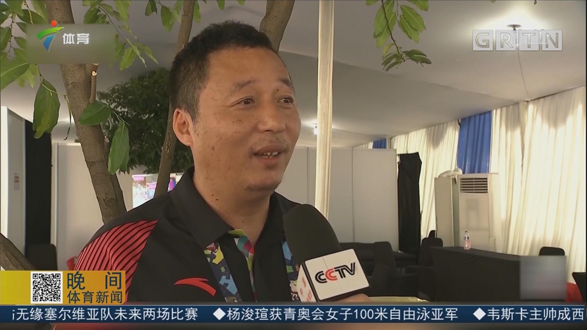 亚残运乒乓球赛场 中国队勇夺七金