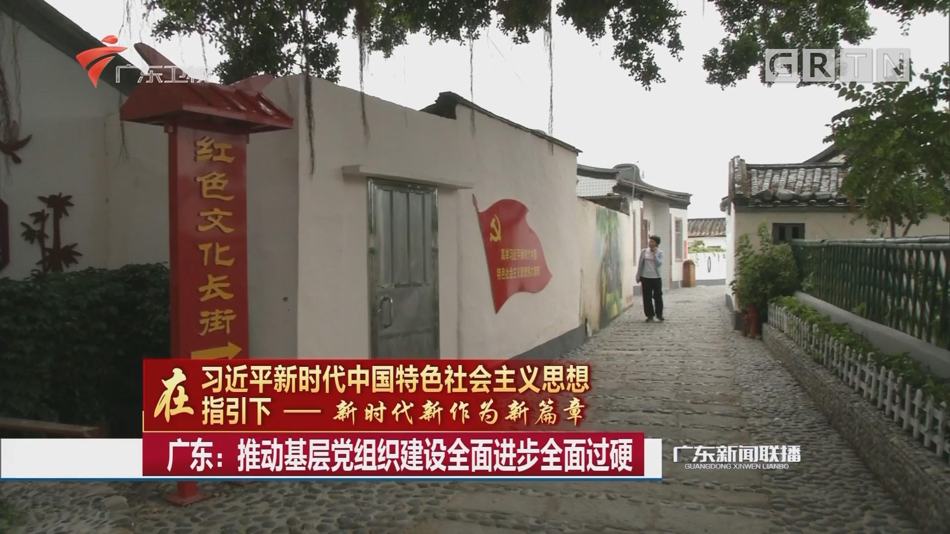 广东:推动基层党组织建设全面进步全面过硬