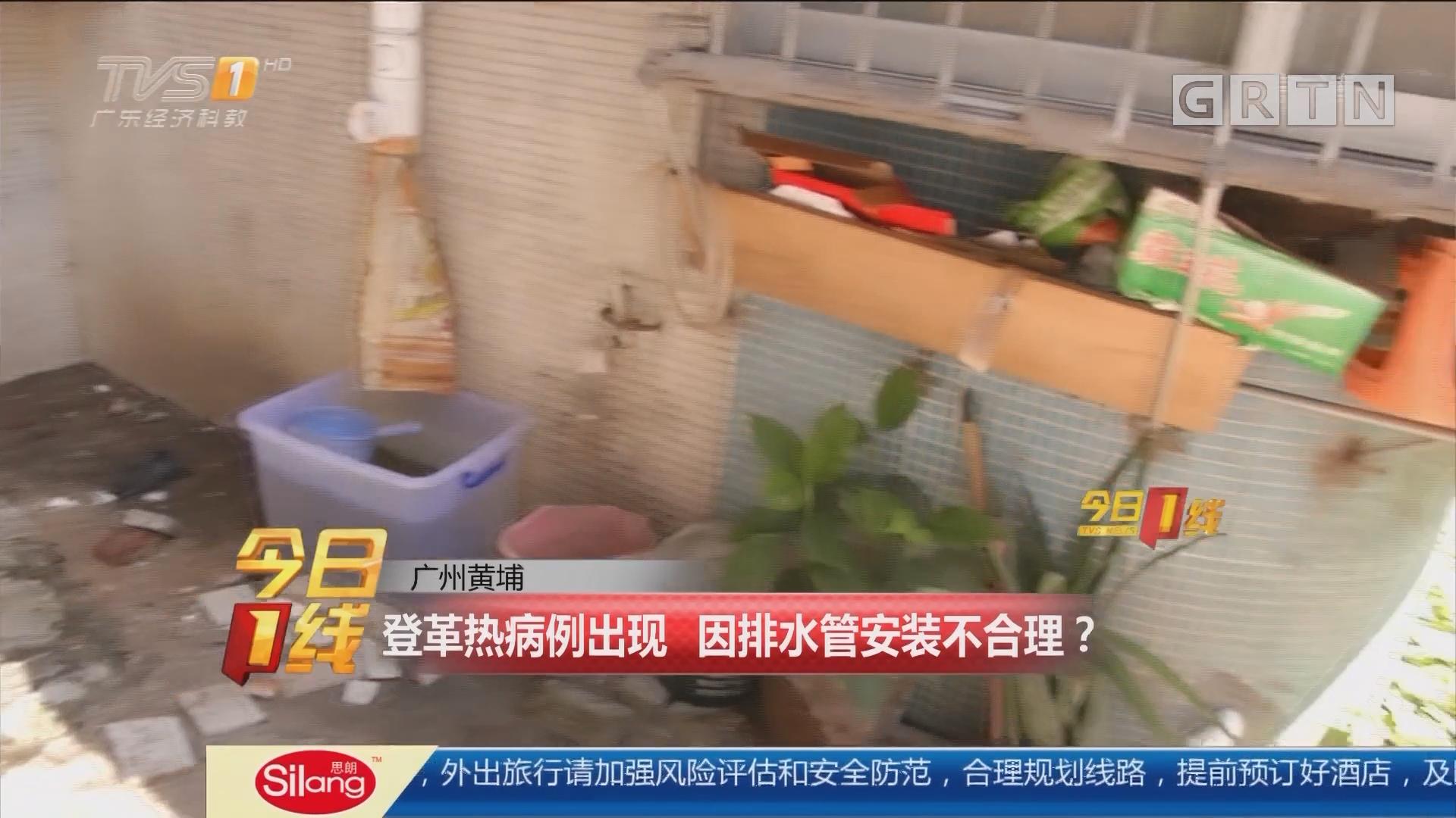 广州黄埔:登革热病例出现 因排水管安装不合理?
